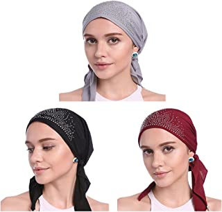 Women's Ruffle Chemo Hat Beanie Scarf, Chemo Beanies, Chemo Head Caps, Head Scarf, Hat for Women Cancer Patients
