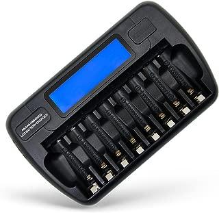 エーモード(AMODE) 充電池用充電器 単3 単4 兼用 充電器 リフレッシュ 放電機能 充電量表示機能 enevolt enelong eneloop ニッケル水素電池 対応 8本