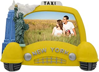 Picture Frame New York City NYC Yellow Taxi New York Souvenir Fits 4 X 6 photo Collectible NYC Gift Item