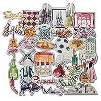 L'ESPRIT ESPAGNOL : affichez votre amour pour la Espagne et inspirez-vous de votre pais favorite où que vous alliez en collant ces adorables autocollants à l'aquarelle sur n'importe quelle surface ! STYLÉS ET UNIQUES : des noms de villes en cursives ...