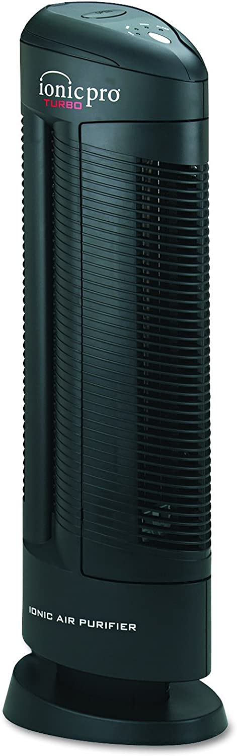 Envion Therapure Ionic Pro Turbo, Silent Operation Air Purifier Tower, 500 Sq Ft Capacity, 3-Speed, Black