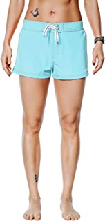 Rocorose Women's Summer Boardshorts Solid Water Sports Quick Dry Beachwear with Back Pocket
