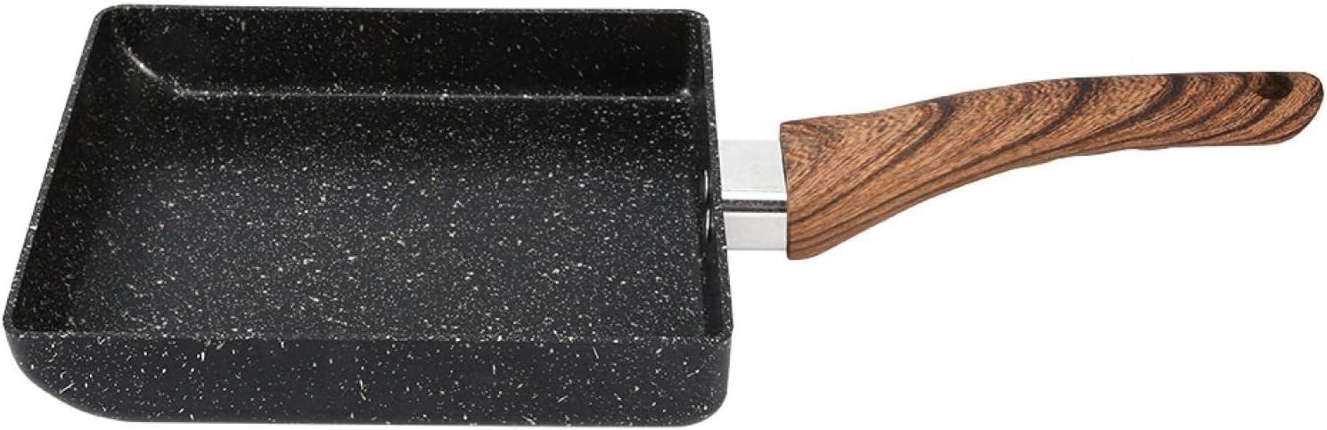 Sartén, Aleación de aluminio de alta resistencia Olla de inducción Tipo Cacerola Cacerola rectangular antiadherente Negro Útiles de cocina prácticos para cocinar al vapor Freír Hervir Estofado