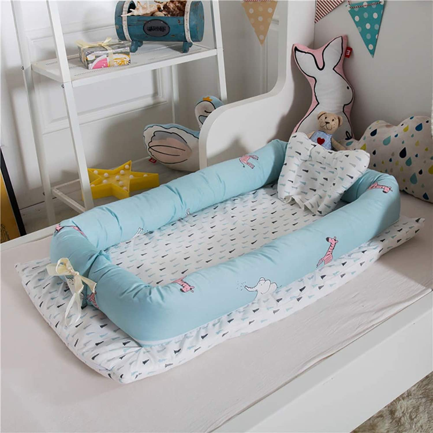 L L Baby Nest Crib Cotton Portable Newborn Isolated Bed Detachable Cover 90  55  15CM 35.4  21.7  5.9 inch, 15
