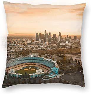 Hobson Reginald Throw Pillow Case Aerial View Of The Dodgers Stadium With The LA View Square Cushion Cover 16