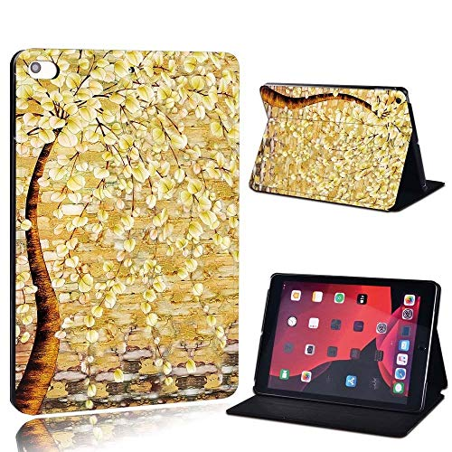 lingtai For Ipad 2 3 4 5 6 7/Air 1 2 3/Pro 11 2018 2020 Pu Leather Tablet Stand Folio Cover Ultrathin Painting Colors Slim Case (Color : Yello, Size : 8th Gen (2020))