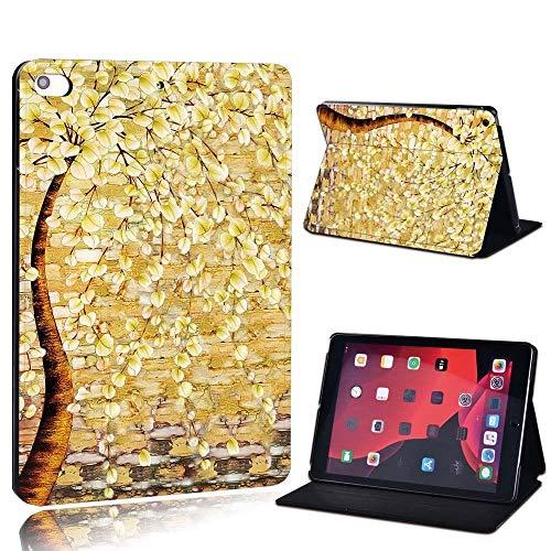 para iPad 2 3 4 5 6 7 / Air 1 2 3 / Pro 11 2018 2020 PU Cuero Tablet Sket Folio Cover Ultrathin Pinting Colors Slim Case (Color : Yello, Size : 2 3 4)