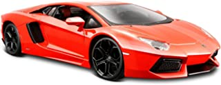 Maisto Lamborghini Aventador LP 700-4 Diecast Vehicle (1:24 Scale), Metallic Orange