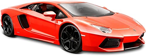 costo real Maisto Lamborghini Aventador Aventador Aventador LP 700-4 Diecast Vehicle (1 24 Scale), Metallic naranja by Maisto  ventas directas de fábrica
