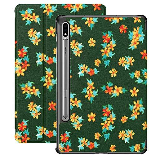 Funda para Galaxy Tab S7 Funda Delgada y Liviana con Soporte para Tableta Samsung Galaxy Tab S7 de 11 Pulgadas Sm-t870 Sm-t875 Sm-t878 2020 Release, Seamless Pretty Pattern Smallscale Cute Mallow