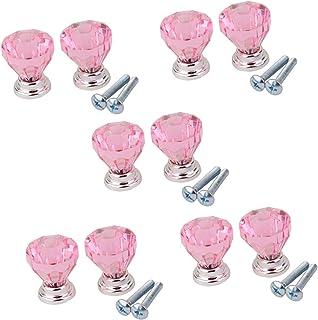 AJSN 10Pieces Rose tiroir tirettes Cabinet Commode Armoire Bin poignée décoration for tiroirs Meubles