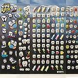 3D Stickers, YOUYA DENTAL Dental Molar Shaped Cartoon Teeth Stickers 12pcs Cute Tooth Paper Stickers Plastic Sticker for Dentist Dental Gift Kids Scrapbook