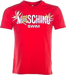 Moschino Swim Palm Teddy T Shirt in Red