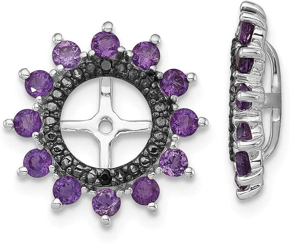 925 Sterling Silver Purple Amethyst Sapphire Seattle Mall Jack Black Earrings Lowest price challenge