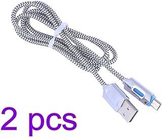 ibasenice – Cabo Micro USB para Android com 2 peças, cabo de carregamento e sincronização de dados micro USB trançado de n...