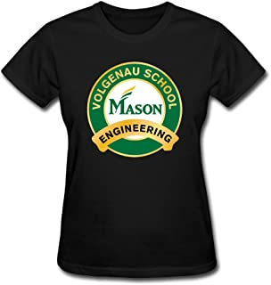 Women George Mason University T-Shirt Normal Fit Comfortable