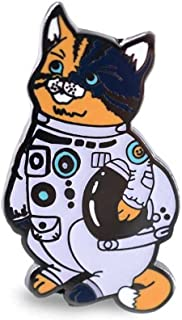 Compoco Cat Enamel Pin Astronaut Kitty in a White Space Suit Glow in The Dark