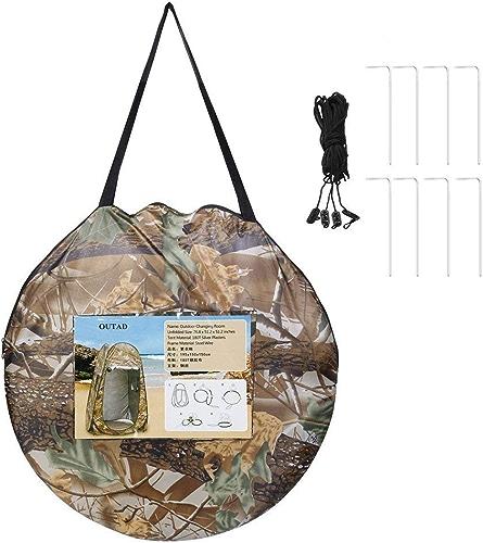 ATYMD Vestiaire extérieur Pop Up Tente portable étanche Camping Plage Douche Pliable avec Sac Camouflage