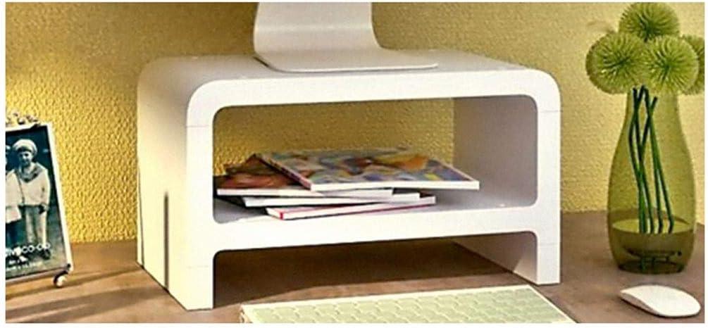 hongbanlemp Monitor Stand PC Bracket Neck Increase Shelf Desktop Storage Base Display Screen Raised TV Cabinet Monitor Screen Raised Rack Computer Stand (Color : White)