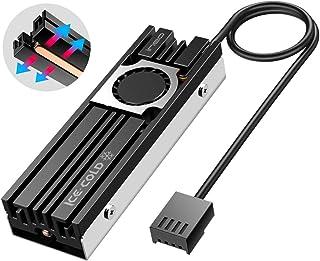 ineo Disipador de Calor de Aluminio para M.2 SSD NVME, con Tubo de Cobre y Ventilador de 20 mm, Refrigeración Potente para NVME o SATA M.2 SSD [C2600FAN]
