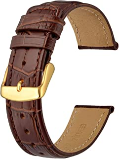 Anbeer Watch Band 18mm 20mm 22mm, Superior Alligator Grain Leather Strap, Sports Style Bracelet Wristband