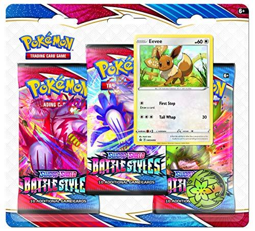 Pokémon TCG – Sword & Shield 5 Battle Styles – 3er-Pack Booster (Einer nach dem Zufallsprinzip)