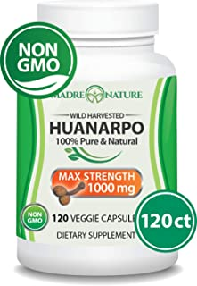 Madre Nature - Wildcrafted Huanarpo Powder Capsules - Max Strength 1000mg Per Serving - Male Enhancing Supplement Supports: Antioxidant, Anti-Inflammatory (120 ct)