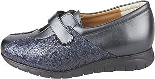 07adfd6f CARI FALCÓ - Zapato Ancho y cómodo, con Plantillas extraibles, Color Azul.  Ancho