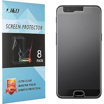 J&D Compatible para 8 Paquetes Protector de Pantalla para OnePlus ...