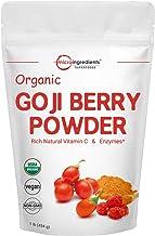 Organic Goji Powder, Freeze Dried Goji Berry Powder, 1 Pound (16 Ounce), Pure Goji Supplement, Natural Booster for Energy, Eye Health, and Super Immune Vitamin C for Antioxidant, Vegan Friendly