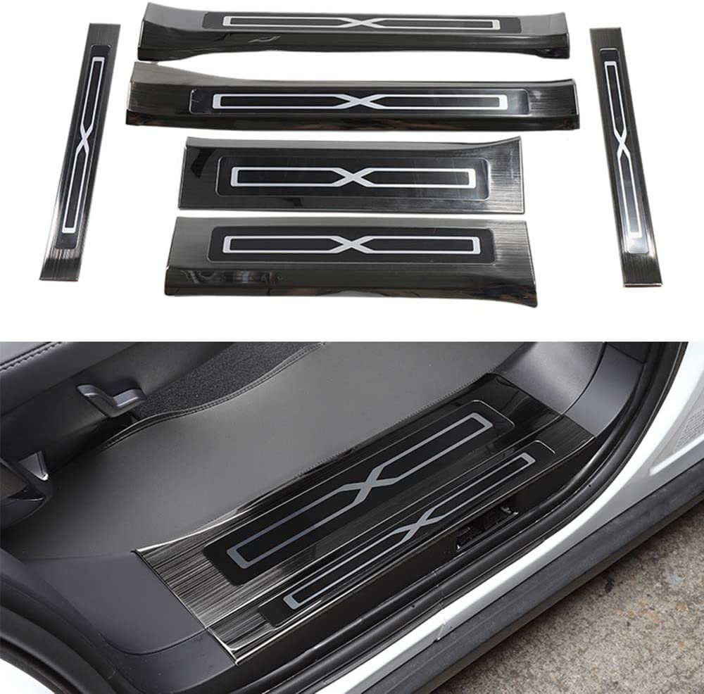 Oubolun Stainless Steel Door Scuff Plate Excellent for 2016- X Popular products Model Tesla