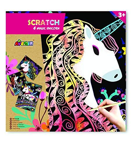 Avenir 31545 6301545 Scratch Magic Unicorn, Mehrfarbig