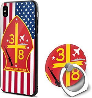 Kelelcq 3rd Battalion 8th Marine Regiment iPhone 10 Mobile Phone Shell Ring Bracket 5.8 Inth