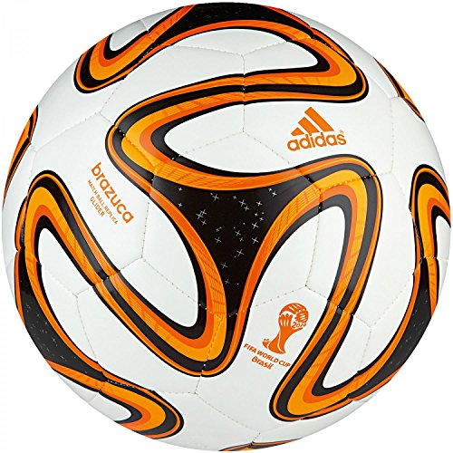 adidas Fußball Brazuca Glider, White/Black/Solar Zest, 5, G73631