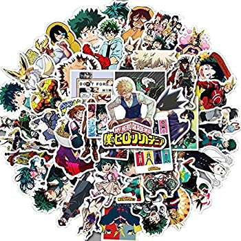 FRIUSATE My Hero Academia Anime Cartoon Laptop Stickers,Waterproof Decal Bumper No-Duplicate for Skateboard Pad Car Snowboard Bicycle Luggage Decoration 50 Pcs