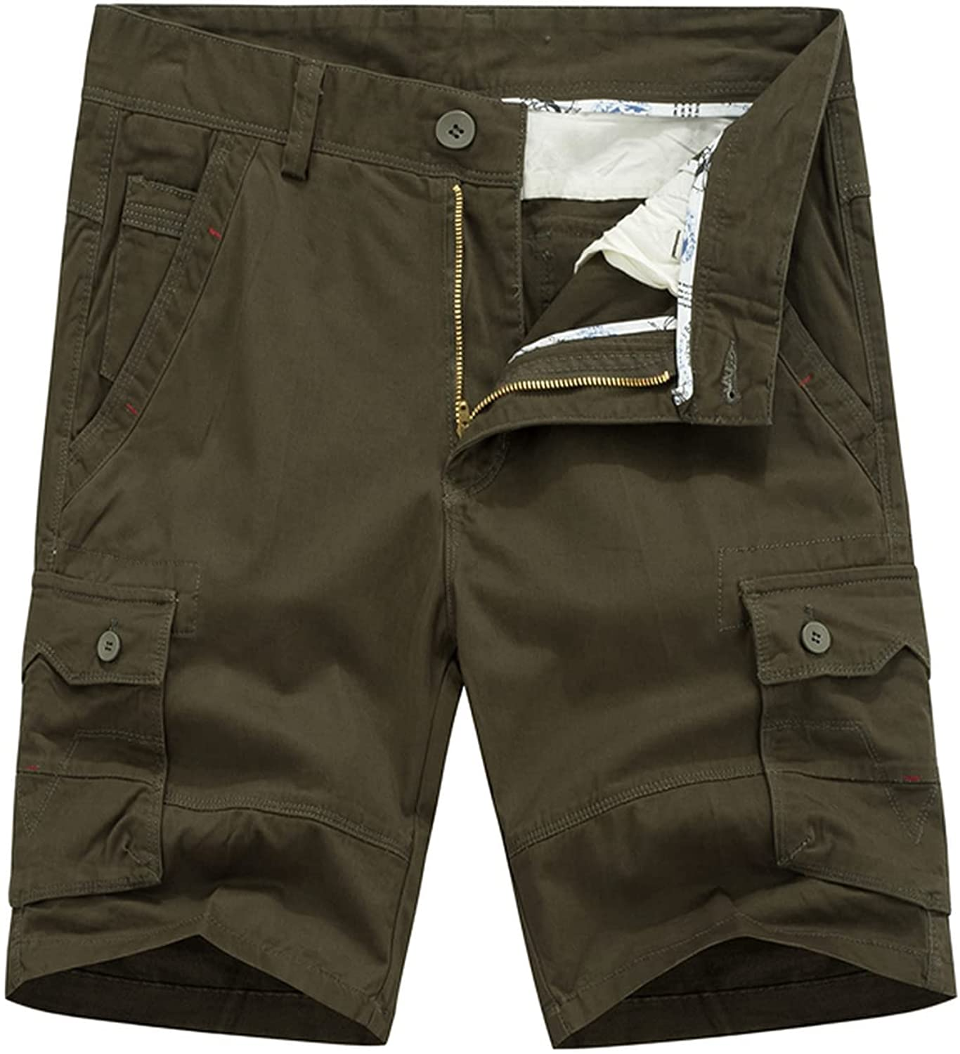 Zutty Casual Cargo Shorts Men's Military Solid Tactical Short Multi Pocket Fitness Loose Work Summer Male 4 Colors Pants