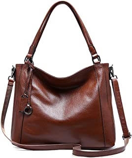 Runhuayou New Fashion Unsubdivided Multi-Function Big Capacity Shoulder Bag Shoulder Slung Leather Handbag Great for Casual or Many Other Occasions Such (Color : Brown)