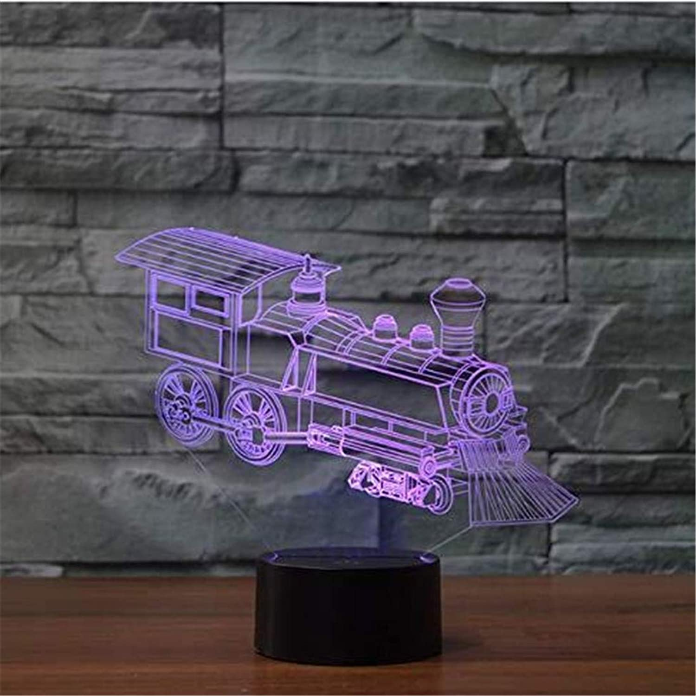 Led-Lichter Edison Lights Train 3D Visuelle Lokomotive Illusion Lampe