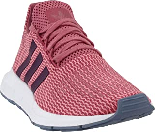 adidas Womens Swift Run w Fabric Low Top Lace Up Running, Maroon/Red, Size 8.5