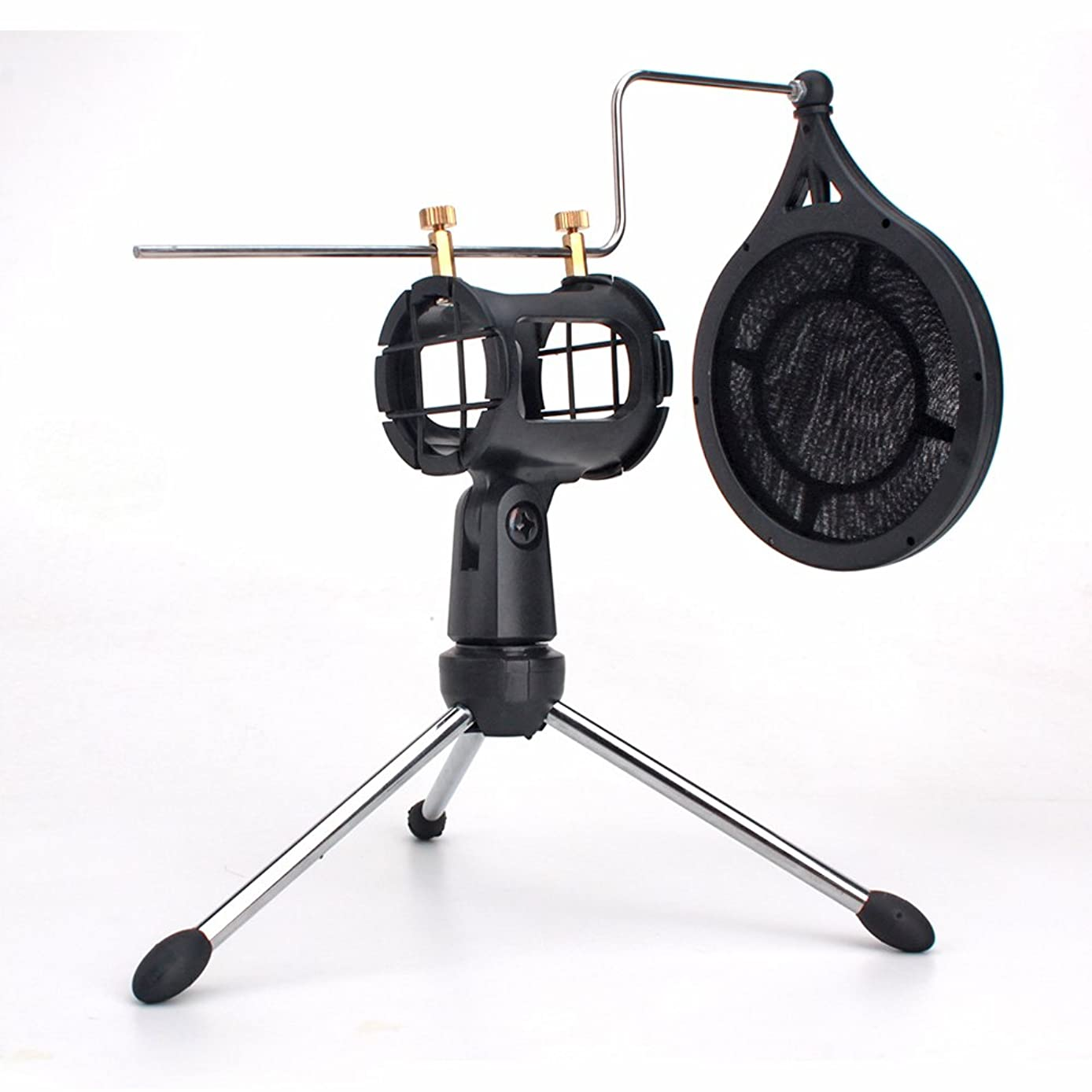 ZRAMO Small size Shock Mount with Pop Filter for Phone Condenser Microphone