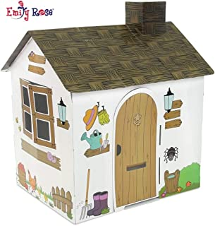 Emily Rose Incredible Colorful Dollhouse or Kid's Play House | Includes Functioning Door, Window and Roof Hatch! (Farm House) | Playhouse for Kids