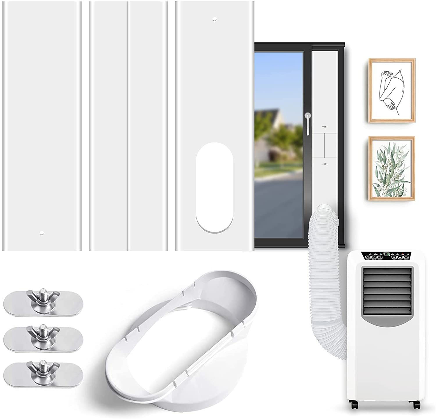 ZOOI Portable Air Conditioner Window Coupler Factory outlet with 2-in-1 Kit Wi Sale SALE% OFF