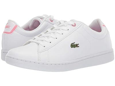 Lacoste Kids Carnaby Evo Bl 2 (Little Kid/Big Kid) (White/Pink) Kid