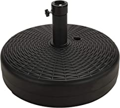 "SUNDEE 19.7"" Patio Round Umbrella Base Stand for Outdoor Garden, Water & Sand Filled Parasol Base Pole Holder (Black)"