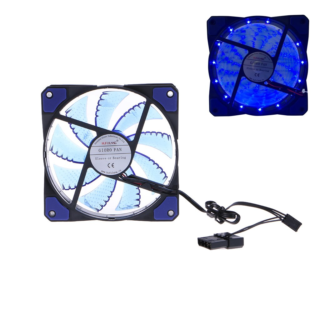 Wivily 15 LED DC12V 120mm Heatsink Genuine [Alternative dealer] Free Shipping Case Cooling Cool Silent Fans