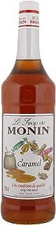 Monin Caramel Syrup In Glass Bottle, 1 Litre