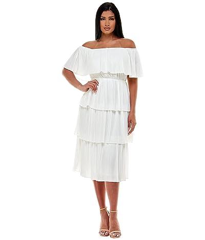 Bebe Off Shoulder Tiered Dress