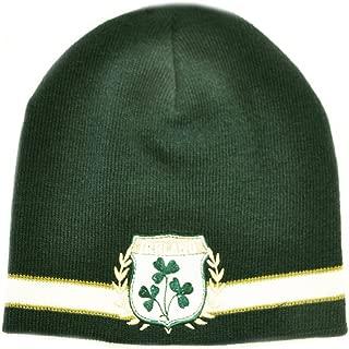 Green Ireland Shamrock Crest Knit Hat