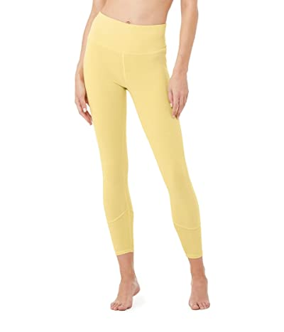ALO 7/8 High-Waisted Sueded Lounge Leggings (Sulphur Wash) Women