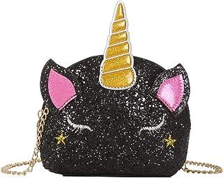 unicorno Borsa a tracolla Glitter ciondolo a forma di unicorno Borsa con tracolla a forma di unicorno con personalità Bors...